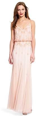 Adrianna Papell Women's Sleeveless Beaded Blouson Gown