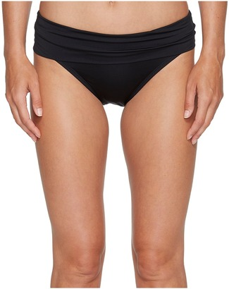 Jantzen - Solid Shirred Waist Bottom Women's Swimwear $56 thestylecure.com