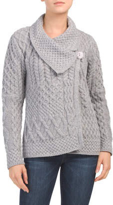 Made In Ireland Merino Wool Asymmetrical Neck Swacket