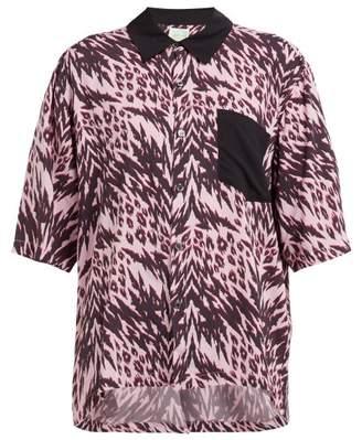 Aries Animal Print Bowling Shirt - Womens - Pink Multi