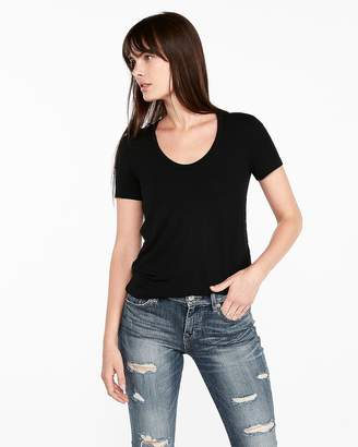 Express One Eleven Scoop Neck Strappy Back Slim Tee