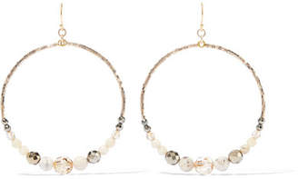Gold-tone Crystal Earrings - one size Chan Luu keQL7