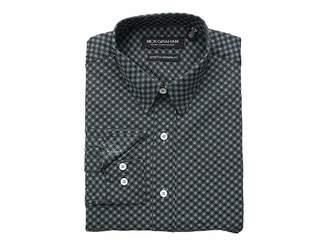 Nick Graham Medallion Print CVC Stretch Dress Shirt