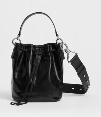 AllSaints Captain Lea Leather Small Bucket Bag