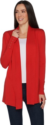 Susan Graver Rayon Nylon Cardigan with Button Detail