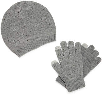 MIXIT Mixit Stud Beanie And Glove 2-pc. Cold Weather Set.