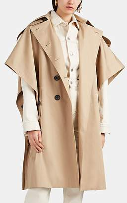 BEIGE THE LOOM Women's Cotton Twill Trench Cape - Beige, Tan