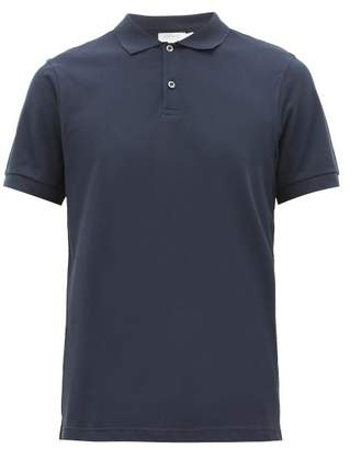Sunspel Riviera Cotton Pique Polo Shirt - Mens - Navy