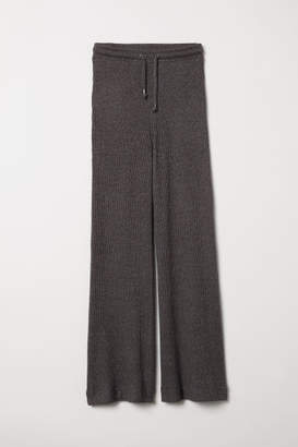 H&M Rib-knit Joggers - Black