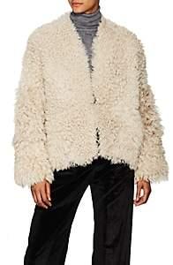 Women's Sheep Shearling Reversible Coat - Black