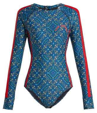 The Upside Casa Azul Performance Paddle Suit - Womens - Blue Multi