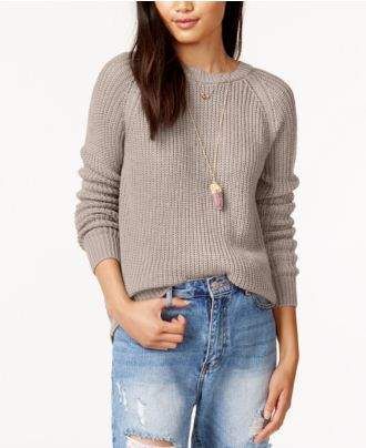 BB Dakota Percival Crew-Neck Cutout Sweater