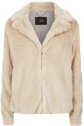SET Faux Fur Cropped Jacket