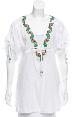 OndadeMar Embellished Short Sleeve Top w/ Tags