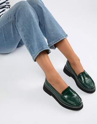 Asos DESIGN Mastery chunky loafer flat shoes