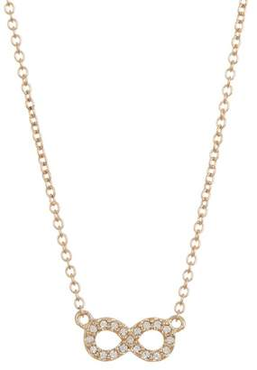 Judith Jack 10K Gold Plated Sterling Silver Mini Motives Boxed Reversible Infinity Pendant Necklace