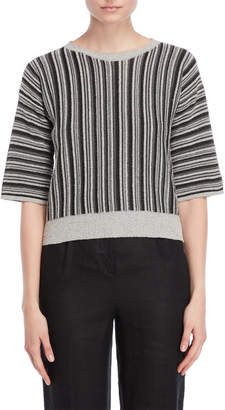 Roberto Collina Stripe Crop Top
