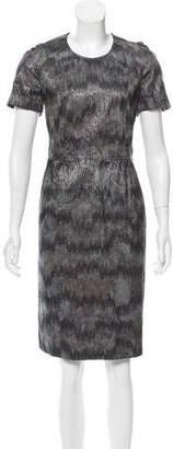 Burberry Brocade Knee-Length Dress