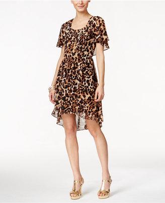 Thalia Sodi Leopard-Print Flutter-Sleeve Dress, Only at Macy's $89.50 thestylecure.com