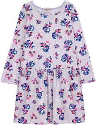 Cath Kidston Geo Rose Junior Drop Waist Jersey Dress