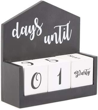 "Home Essentials And Beyond 7.5"" Wooden Calendar - Black/White"
