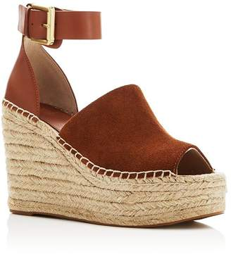 Marc Fisher Women's Adalyn Ankle Strap Espadrille Platform Wedge Sandals