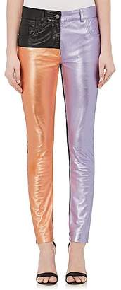 Haider Ackermann Women's Colorblocked Leather Jeans $3,185 thestylecure.com