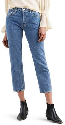 Levi's Made & Crafted(TM) 501(R) High Waist Crop Skinny Jeans