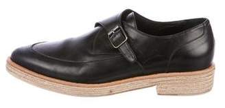 Freda Salvador Leather Round-Toe Loafers
