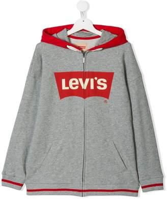 Levi's Kids TEEN logo zip hoodie