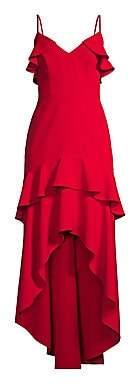 Aidan Mattox Women's Tiered Ruffle Crepe Gown - Size 0