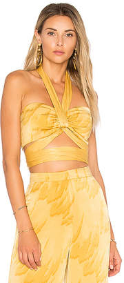 House of Harlow 1960 x REVOLVE Tammy Top in Yellow $118 thestylecure.com