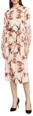 BCBGMAXAZRIA Tulip-Print Shift Dress