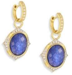 Jude Frances Small Moroccan Diamond& Sapphire Rainbow Moonstone Doublet Earring Charms