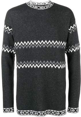 Diesel Black Gold intarsia-knit jumper