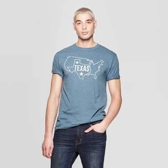 Awake Men's Short Sleeve Crewneck Texas Graphic T-Shirt Navy