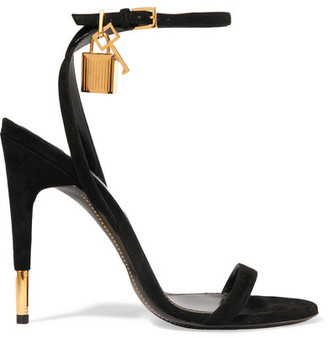 TOM FORD - Suede Sandals - Black $890 thestylecure.com