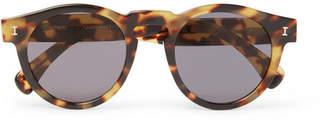 Illesteva Leonard Round-Frame Tortoiseshell Acetate Sunglasses - Men - Tortoiseshell