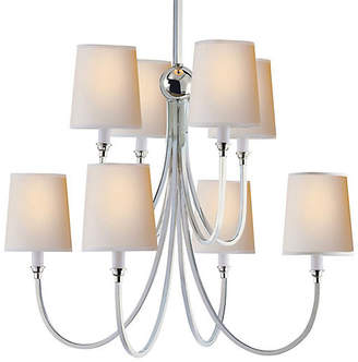Visual Comfort & Co. Reed 8-Light Chandelier - Polished Nickel