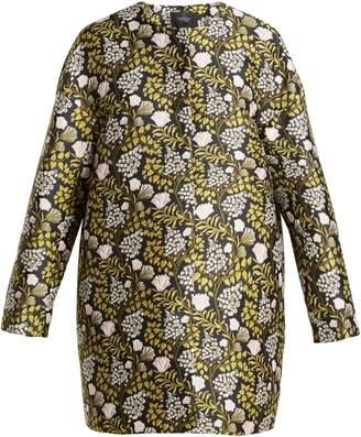 Giambattista Valli Floral jacquard cocoon coat