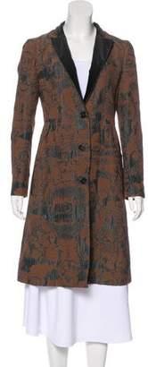 Etro Printed Knee-Length Coat