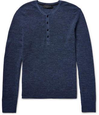 Rag & Bone Garrett Merino Wool Henley T-Shirt
