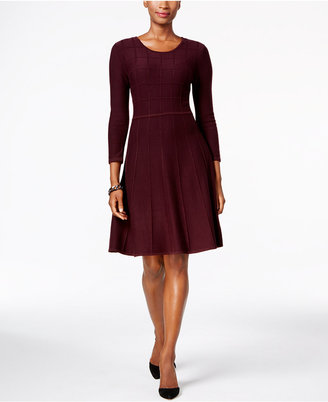 Jessica Howard Fit & Flare Sweater Dress $79 thestylecure.com