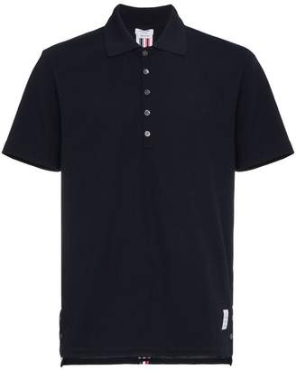 Thom Browne Tricolour Stripe Polo Shirt