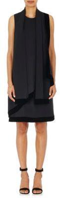 Giorgio Armani Women's Silk Sleeveless Scarf-Neck Dress-BLACK $4,395 thestylecure.com