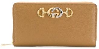Gucci Zumi grainy leather zip around wallet