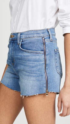 L'Agence Ryland High Rise Shorts with Zipper