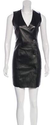 Drome Bodycon Leather Mini Dress