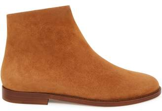 Mansur Gavriel Shearling Flat Ankle Boot - Cammello