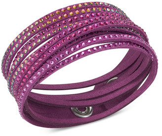 Swarovski Swarovski Crystal Embellished Wrap Bracelet $70 thestylecure.com